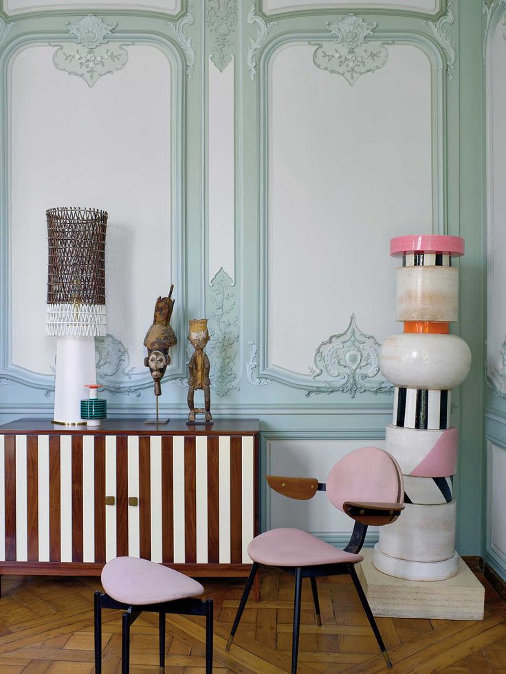 Memphis Design Meets Ornate 18th Century Parisian Apartment | https://www.yellowtrace.com.au/charles-zana-18th-century-paris-apartment-memphis-design/ | The best of high-end contemporary design in a selection to inspire interior designers looking to finish their projects while displaying the best design happening right now. | www.bocadolobo.com  #bocadolobo #luxuryfurniture #exclusivedesign #interiodesign #designideas #interiodesign #decor #luxury #luxuryhouse #luxuryhome #luxuryfurniture…