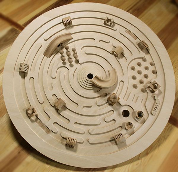 Ginga Kobo Toys | Rakuten Global Market: SWIVELING LABYRINTH Wooden Toys (Ginga Kobo Toys) Japan