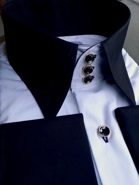 MorCouture Oreo Deluxe High Collar Shirt