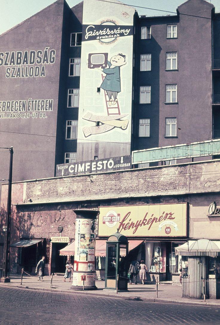 Baross térnél 1960 körül, Móra András felvétele