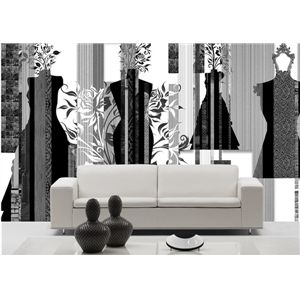 Contemporary Black And White Artistic Non-Woven Paper Mural - See more at: http://www.homelava.com/en-contemporary-black-and-white-artistic-non-woven-paper-mural-p19764.htm#sthash.muVKtELR.dpuf