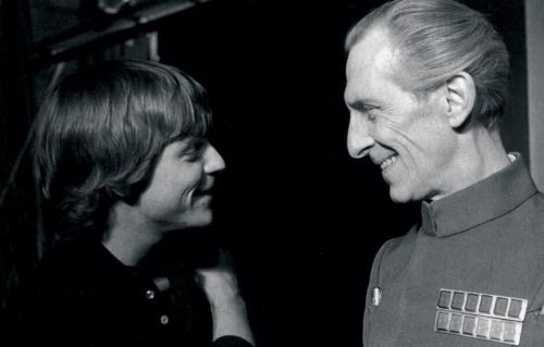 Star Wars Behind The Scenes Luke Skywalker And Grand Moff Tarkin.......