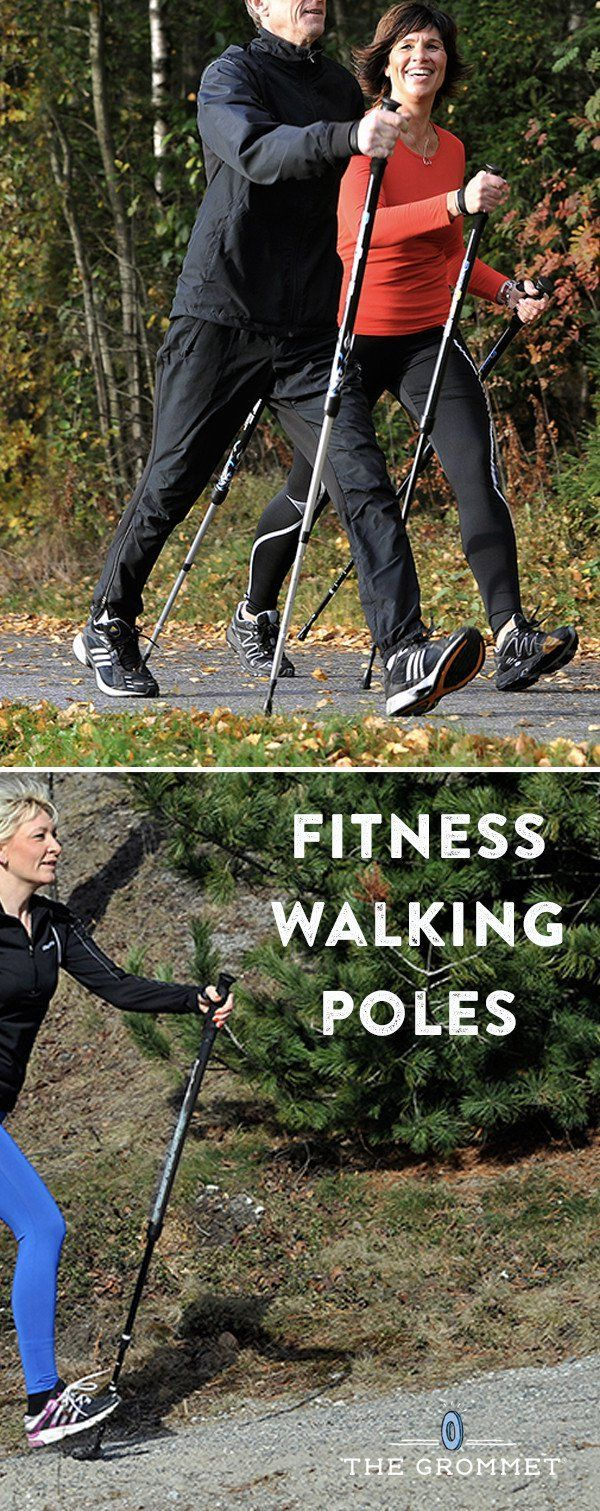 These walking poles for exercise, discovered by The Grommet, transform a walk or hike into a total body workout that activates 90% of your muscles.