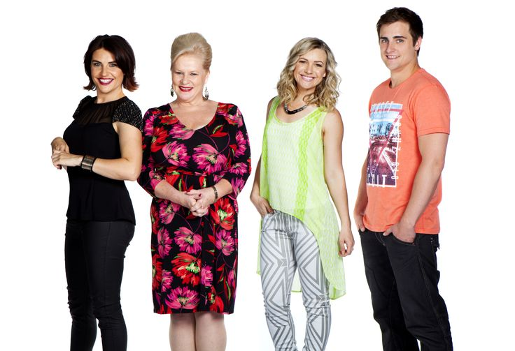 Canning clan! Morgana, Colette, Saskia and Chris. #thecast #Neighbours