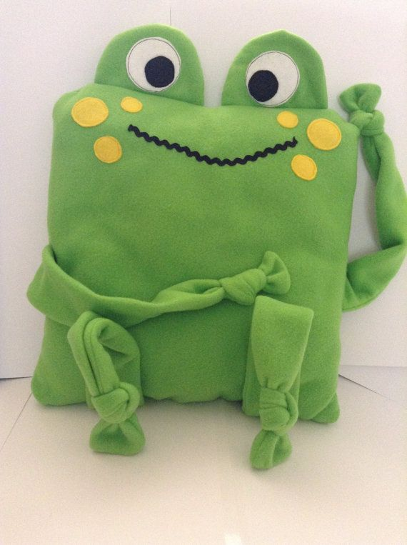 Ribbit the Frog Huggle Buddy Cushion by SewingSunbeams on Etsy