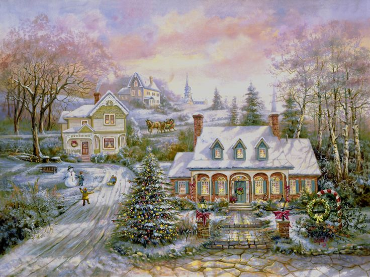 Holiday Magic by Carl Valente ~ Christmas winter in the country