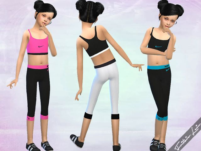 Sims 4 CC's - The Best: Girls Nike Workout Set by Fritzie.Lein
