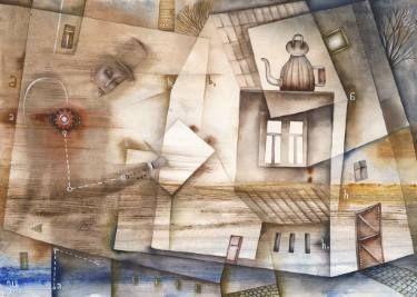 Art of Writing by Eugene Ivanov, watercolor on paper, 29 X 41 cm, $475. #eugeneivanov #@eugene_1_ivanov #modern #original #oil #watercolor #painting #sale #art_for_sale #original_art_for_sale #modern_art_for_sale #canvas_art_for_sale #art_for_sale_artworks #art_for_sale_water_colors #art_for_sale_artist #art_for_sale_eugene_ivanov #jew #jewish #judaic