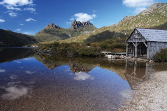 Cradle Mountain the start of the Overland Track with Tasmanian Expeditions