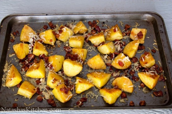Crisp Oven Roasted Potatoes With Bacon and Cheese | Recipe
