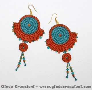 Earrings crochet/pendientes