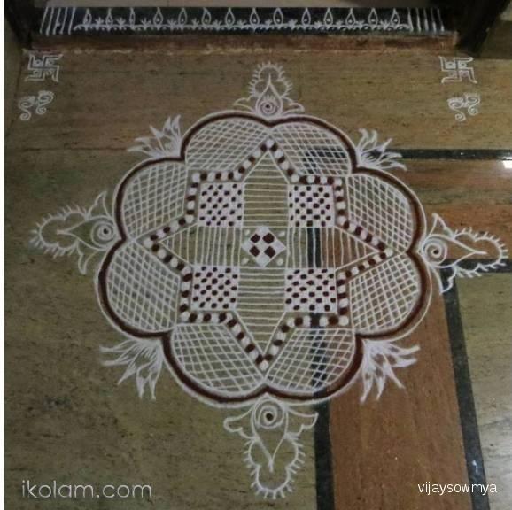 Rangoli Free Hand Design freehand | www.iKolam.com
