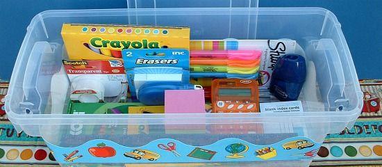 Back to School Homework Box