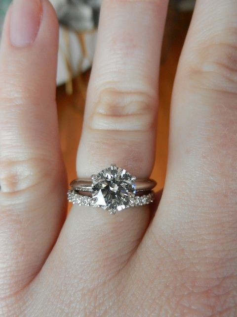 170 carat solitaire engagement ring with 22mm eternity wedding band both size 55 from - Solitaire Engagement Ring With Diamond Wedding Band