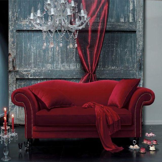 Velvet couch...  chair  Pinterest