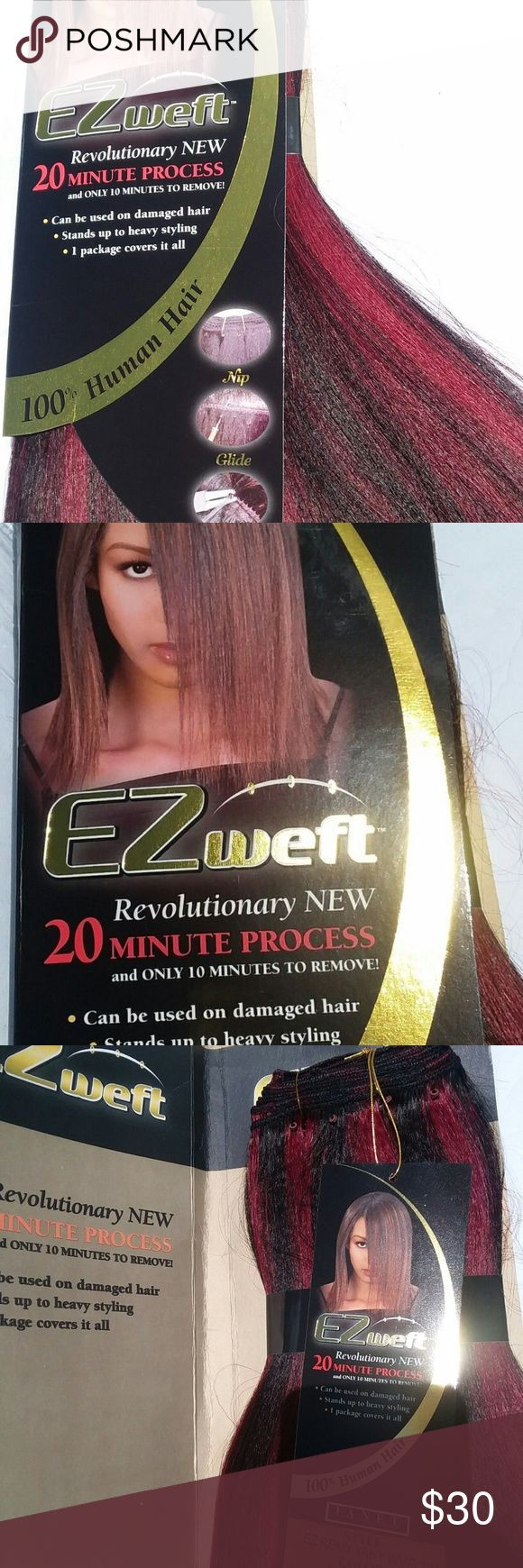 Remy Ez Weft Yaky 12″ Straight Human Hair Exten Ez…