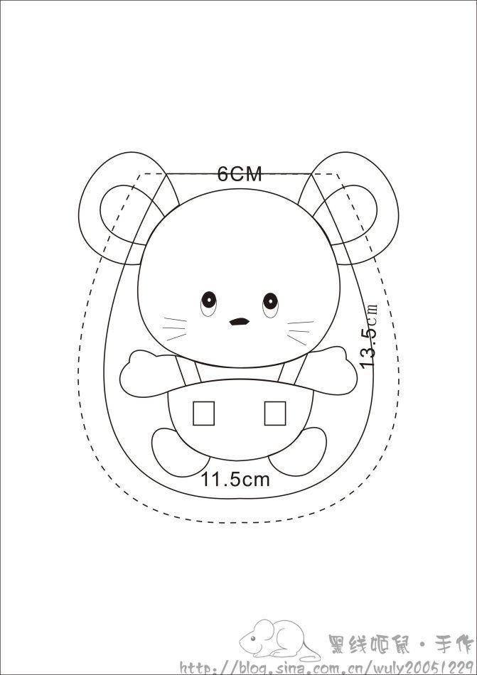 [Réservé] [] gouttes de super Apodemus souris Concierge clés de Q contenant des dessins tutoriel _ tissu brodé _ D _ blog Sina