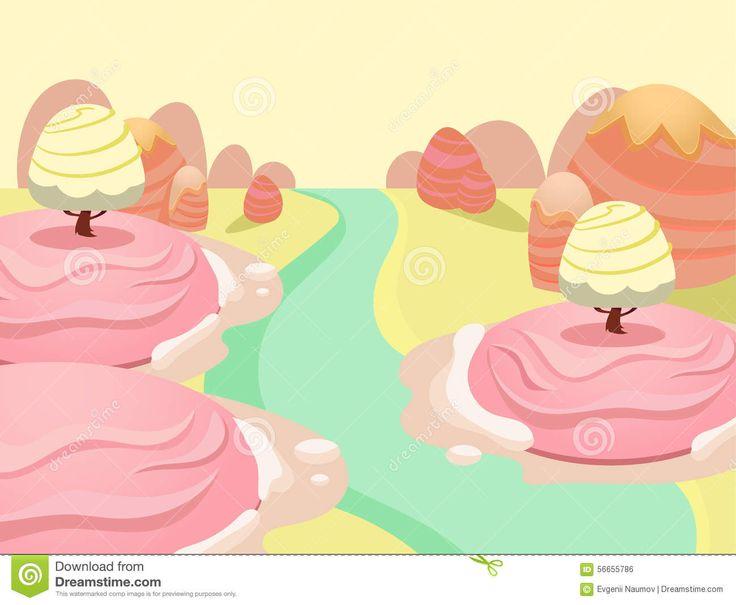 candy-land-vector-cartoon-fairy-tale-landscape-illustration-game-background-56655786.jpg (1300×1069)