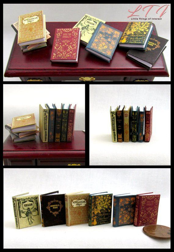 "ABBEYS AND CASTLES Miniature Dollhouse 1:12 Scale Book 1/"" Scale Illustrated Book"