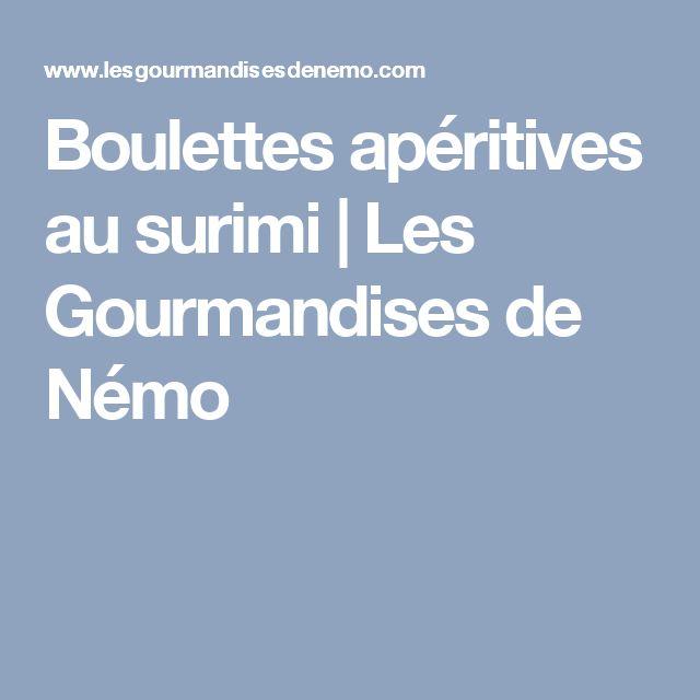 Boulettes apéritives au surimi | Les Gourmandises de Némo