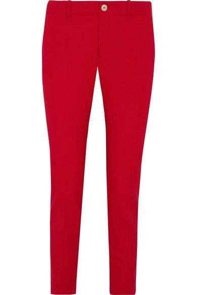 GUCCI Stretch Wool And Silk-Blend Straight-Leg Pants. #gucci #cloth #pants