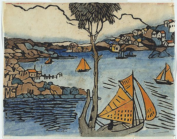 Margaret PRESTON, The boat, Sydney Harbour.