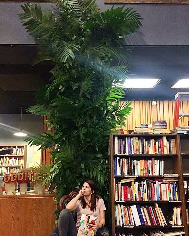 Tropical installation @boganjill and I did for The Flower Chef at @thelastbookstorela  . . . . . . .  #deepthoughts #theflowerchef #flowerwall #backdrop #stepandrepeat #photobackdrop #flowerinstallation #installationart #dtla #thelastbookstore #flourla #tropical #palms #customdesign #flowerbackdrop #setdesign #propstyling #photoshoot #photoprop