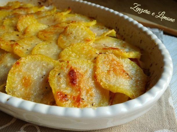 tortino di patate mortadella e grana