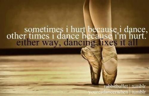 This quote about dance is lovely - it's also #whydancematters