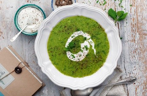 Slimming World's green pea and mint soup recipe - goodtoknow