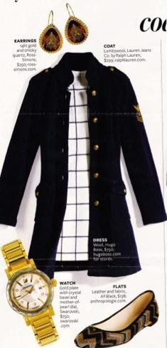 nautical navy military style coat 7 chevron shoes