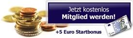 Earnstar   5 Euro Anmeldebonus