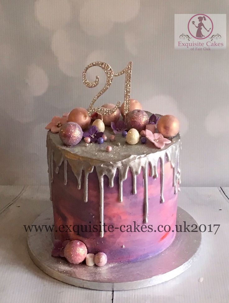 Silver And Pink Wedding Cake Ideas