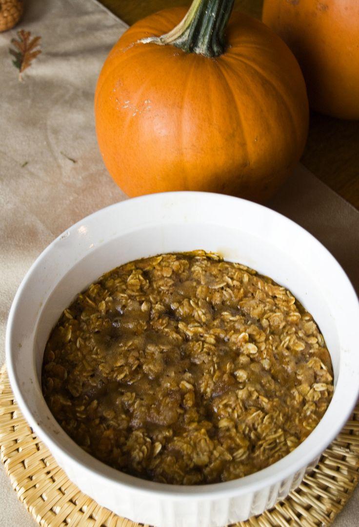 Pumpkin Oatmeal - Yummm with lots of brown sugar on top :-)