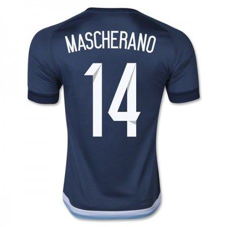 Argentina 2016 Javier Mascherano 14 Borte Drakt Kortermet.  http://www.fotballteam.com/argentina-2016-javier-mascherano-14-borte-drakt-kortermet.  #fotballdrakter