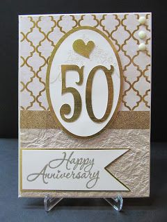hand made anniversary cards | Savvy Handmade Cards: 50th Anniversary Card