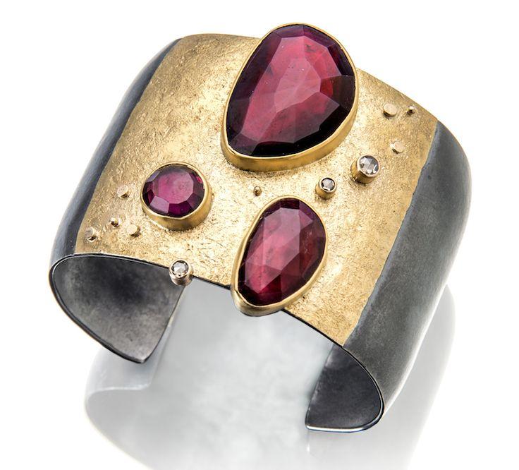 Ruby Red Stone Bracelet by Sydney Lynch