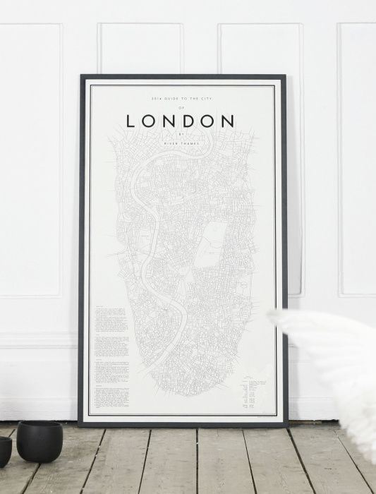 London Cartography Map poster ITCHBAN.com.jpg // Architecture, Living Space & Furniture Inspiration #11
