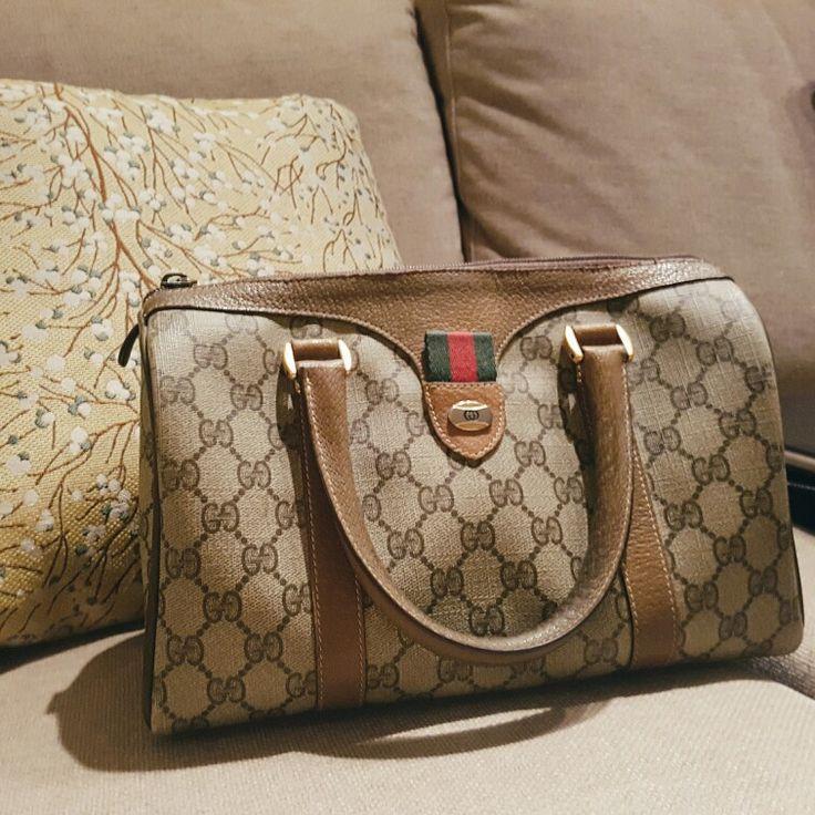Love my new vintage Gucci Speedy Boston Bag