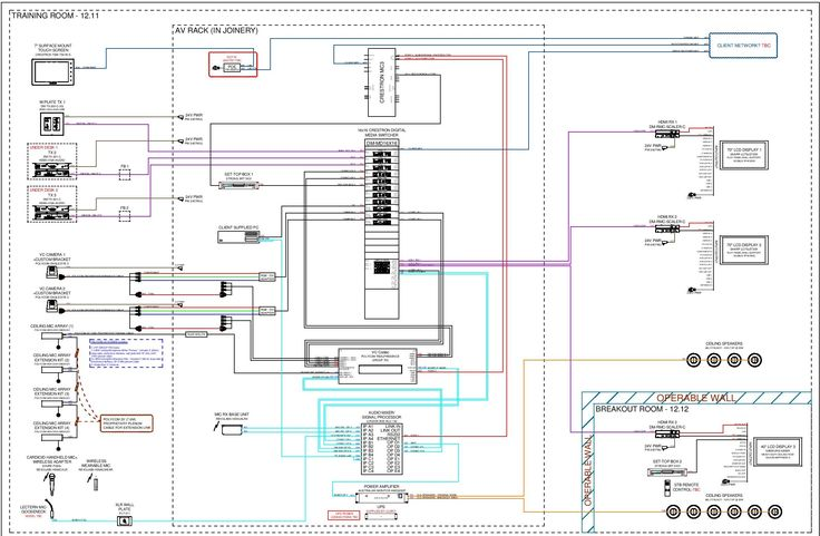 av wiring schematic training room system with operable. Black Bedroom Furniture Sets. Home Design Ideas