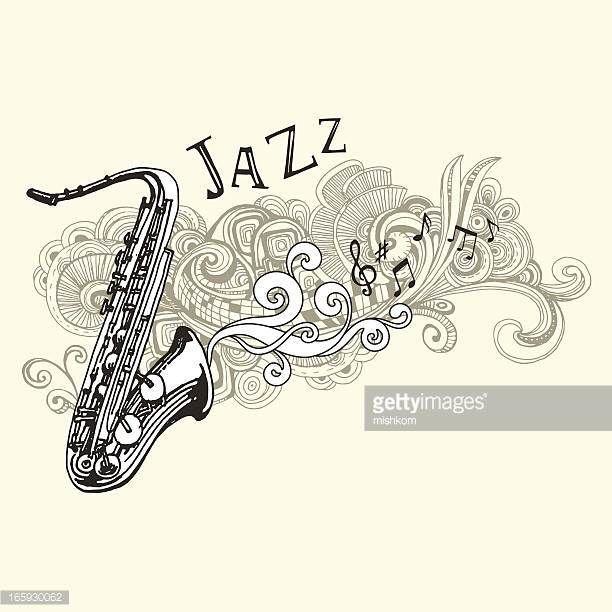 Jazz saxofón dibujo