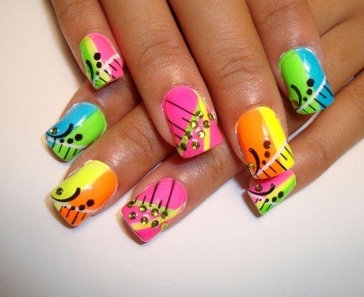 Colored Creative Nails