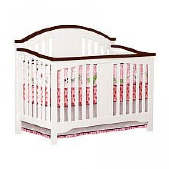 Delta Springtime Lifetime Crib White Espresso Delta Babies R Us Babiesrus Babies R Us Cribs Wood Crib Baby Cribs Cribs