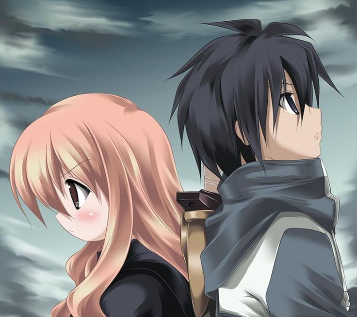 Zero no Tsukaima Saito and Louise