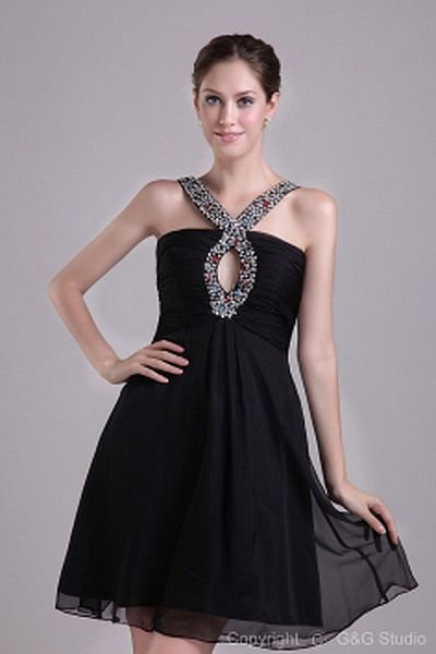 A-Line Chiffon Classic Formal Dresses wr1279 - http://www.weddingrobe.co.uk/a-line-chiffon-classic-formal-dresses-wr1279.html - NECKLINE: Halter. FABRIC: Chiffon. SLEEVE: Sleeveless. COLOR: Black. SILHOUETTE: A-Line. - 163.59