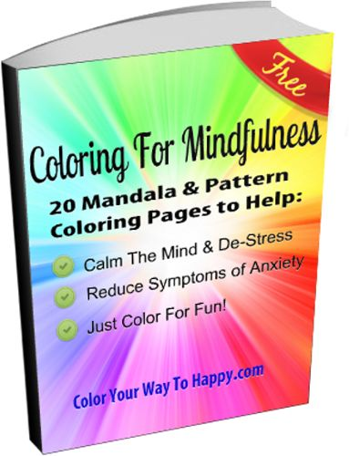 Grab your FREE 20 page coloring book of mandalas & patterns. Just subscribe to http://www.coloryourwaytohappy.com
