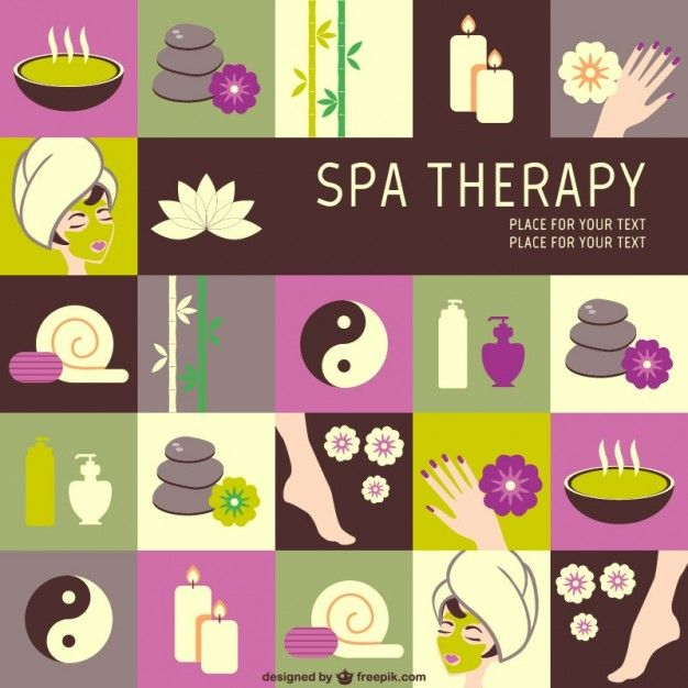 SPA therapy vector graphics Free Vector