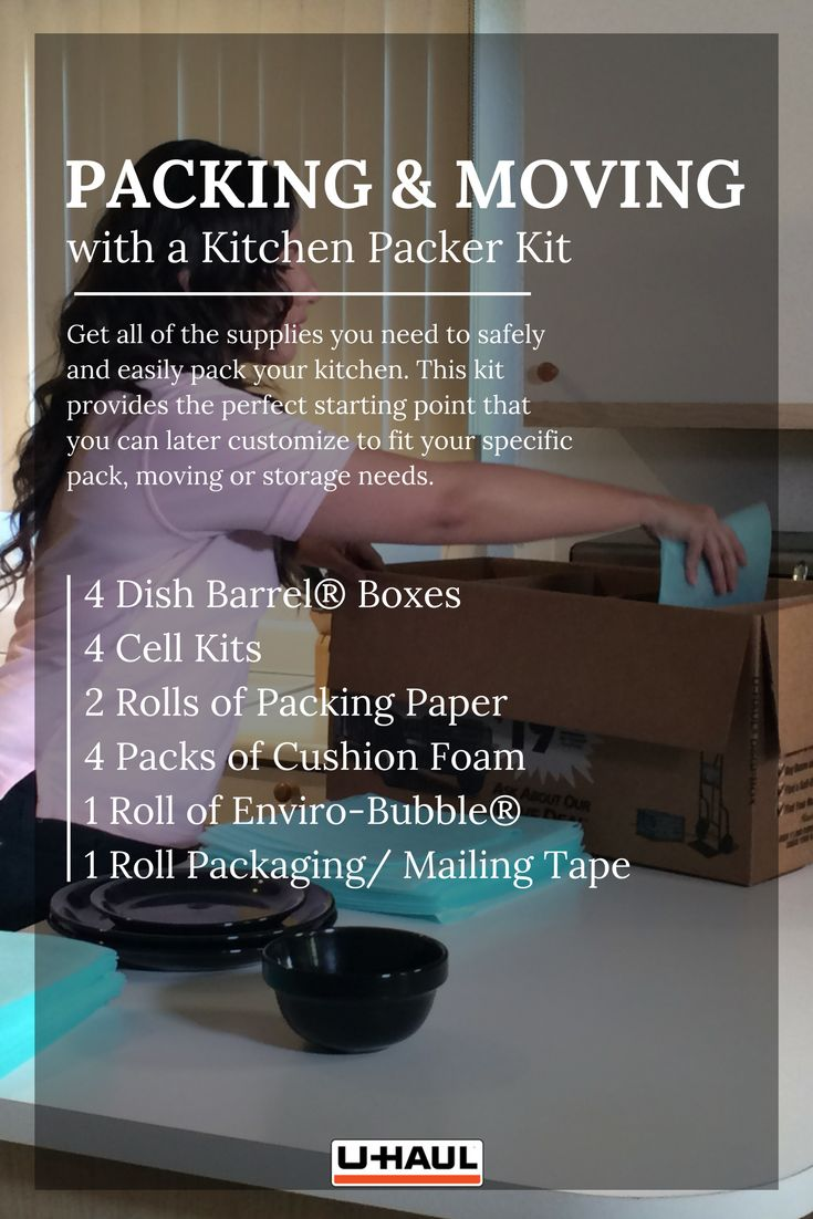 how to pack kitchen dishes
