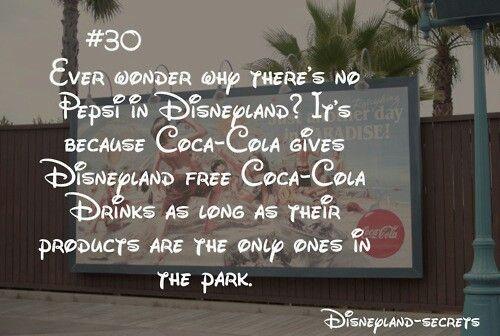 Disneyland secrets. & bc coca cola is better ♥