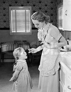 1950s.  We got a dose of cod liver oil from the 40's to the 50's.  I loved that stuff!!